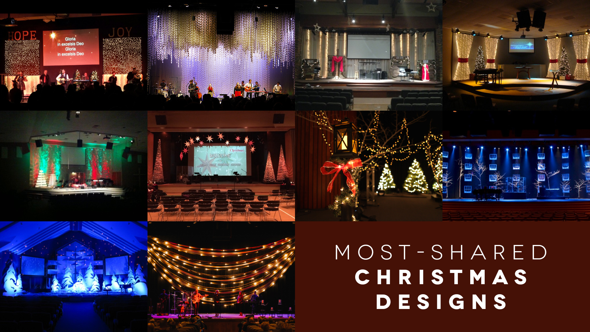 Most Shared Christmas Stage Designs Church Stage Design
