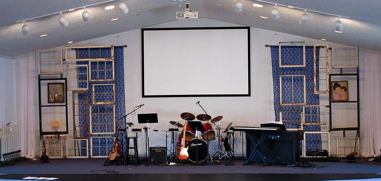 Window Puzzle Church Stage Design Ideas